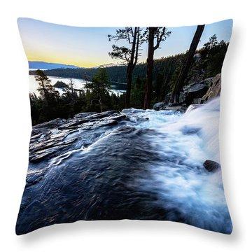 Eagle Falls At Emerald Bay Throw Pillow
