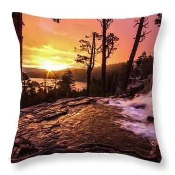 Eagle Falls Sunrise Throw Pillow