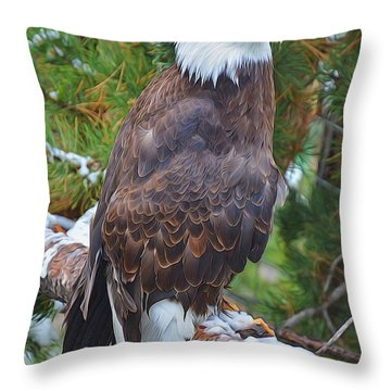 Eagle Glory Throw Pillow by Diane Alexander
