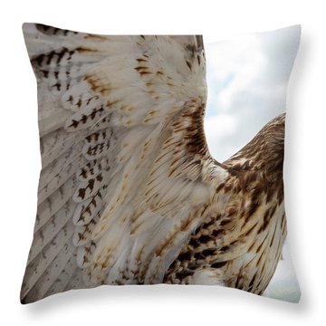 Eagle Going Hunting Throw Pillow