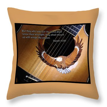 Eagle Guitar Throw Pillow by Jim Mathis