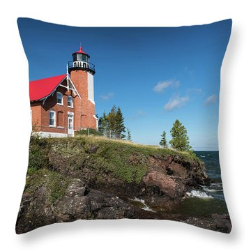 Eagle Harbor Lighthouse Throw Pillow