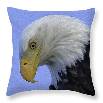 Eagle Head Paint Throw Pillow