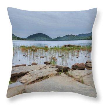 Eagle Lake Acadia National Park Throw Pillow