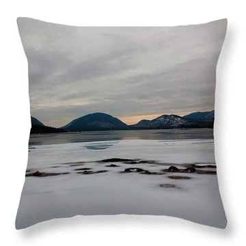Throw Pillow featuring the photograph Eagle Lake Sunset I by Greg DeBeck