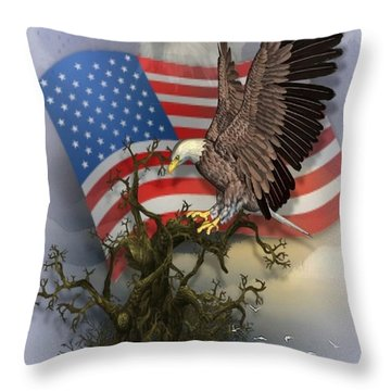 Eagle Lands Throw Pillow
