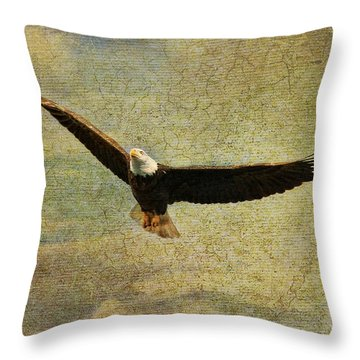 Eagle Medicine Throw Pillow by Deborah Benoit
