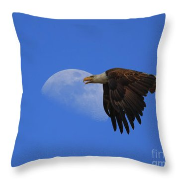 Eagle Moon Throw Pillow