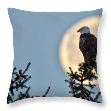 Eagle Moon Throw Pillow