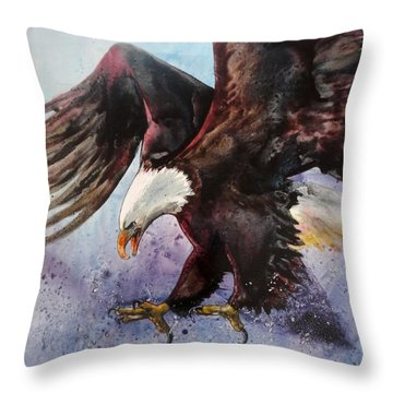 Eagle Of Light Throw Pillow