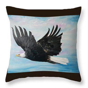 Eagle On A Mission      11 Throw Pillow