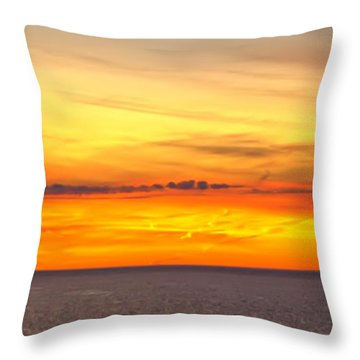 Eagle Panorama Sunset Throw Pillow by Randall Branham
