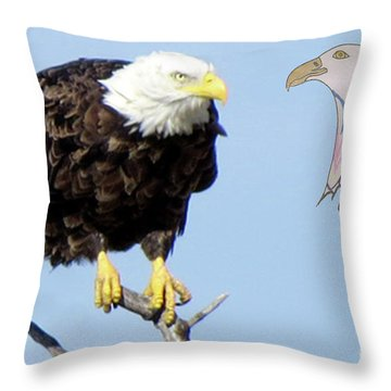 Eagle Reflection Throw Pillow