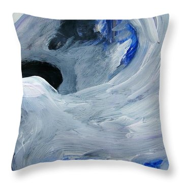 Eagle Riding On Waves Throw Pillow
