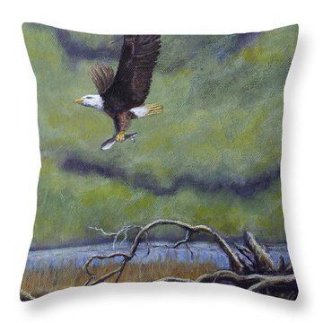 Eagle River Throw Pillow