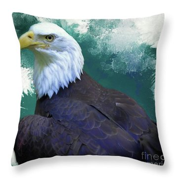 Eagle Throw Pillow by Suzanne Handel