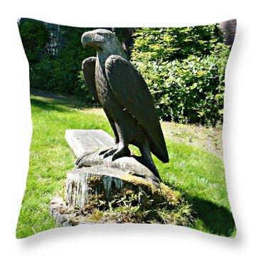 Eagle Totem Throw Pillow