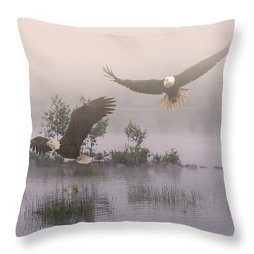 Eagles At Dawn Throw Pillow