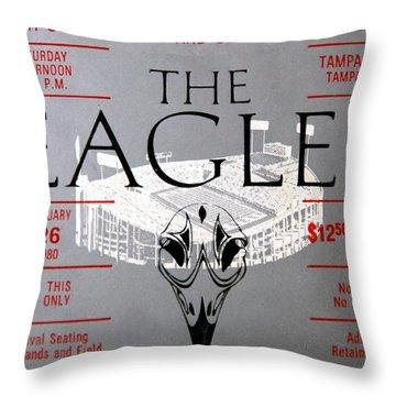 Eagles Concert Ticket 1980 Throw Pillow
