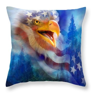 Eagle's Cry Throw Pillow