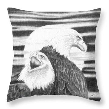 Eagles Throw Pillow by Lawrence Tripoli