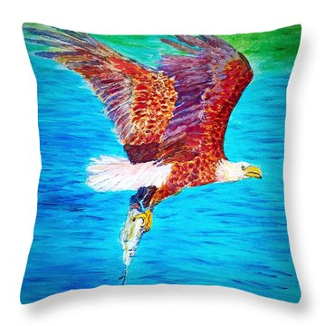 Eagle's Lunch Throw Pillow