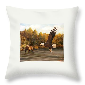 Eagle's Prey Throw Pillow