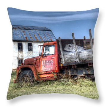 Throw Pillow featuring the photograph Earl Latsha Lumber Company - Version 1 by Shelley Neff