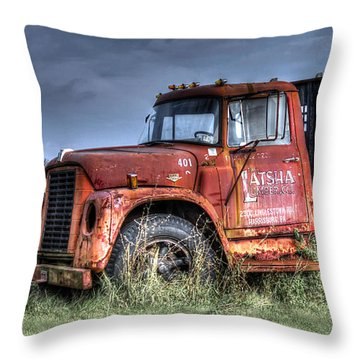 Throw Pillow featuring the photograph Earl Latsha Lumber Company Version 2  by Shelley Neff
