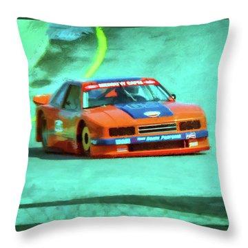 Early 1980s Mercury Capri Scca Trans-am Racer Throw Pillow by Ken Morris