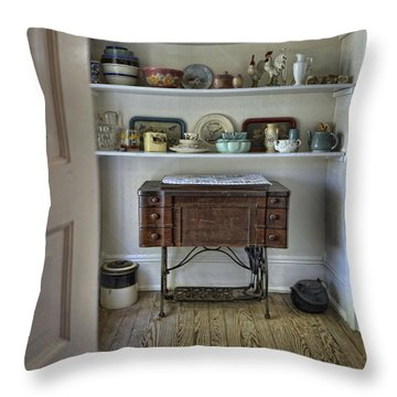 Throw Pillow featuring the photograph Early American Style by Charles McKelroy