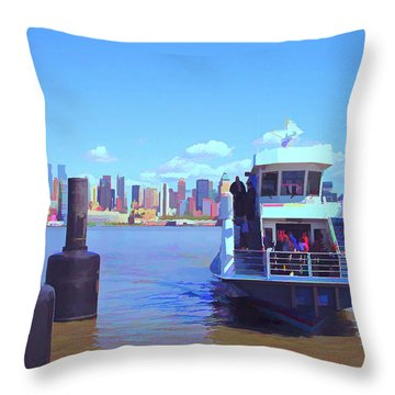Throw Pillow featuring the mixed media Early Arrival by Lynda Lehmann