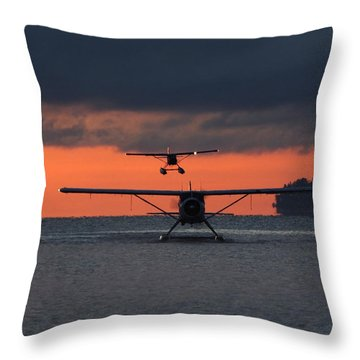 Early Arrivals Throw Pillow by Mark Alan Perry
