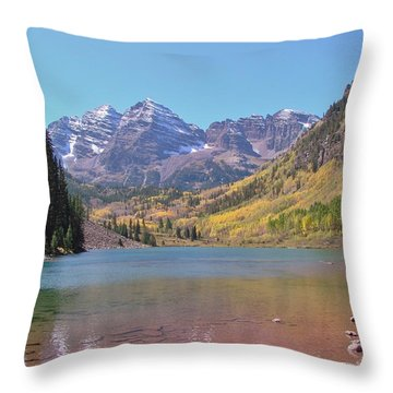 Early Autumn At The Bells Throw Pillow by Margaret Bobb