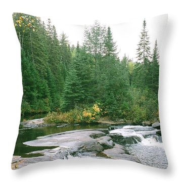 Early Autumn On The Madawaska River Throw Pillow