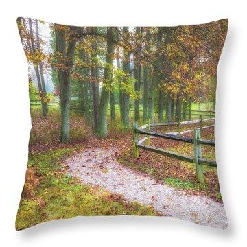 Early Autumn Stroll Throw Pillow