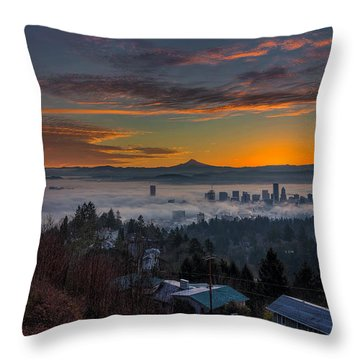 Early Bird Special Throw Pillow by David Gn