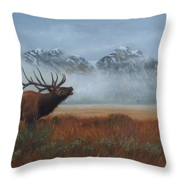 Early Call Throw Pillow