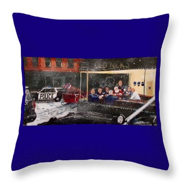 Early Christmas Morning Coffee Throw Pillow
