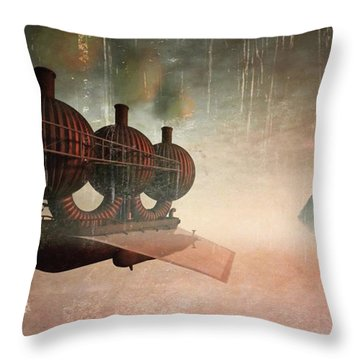 Early Departure - A Piece Of Work From Throw Pillow by John Edwards