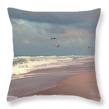 Early Evening Throw Pillow by Megan Dirsa-DuBois