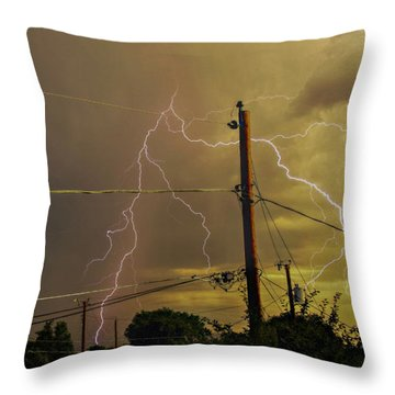 Early Evening Storm Throw Pillow