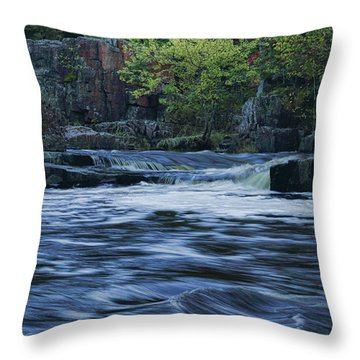 Early Fall At Eau Claire Dells Park Throw Pillow