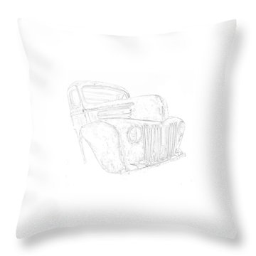 Early Ford Truck Throw Pillow