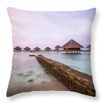 Throw Pillow featuring the photograph Early In The Morning by Hannes Cmarits