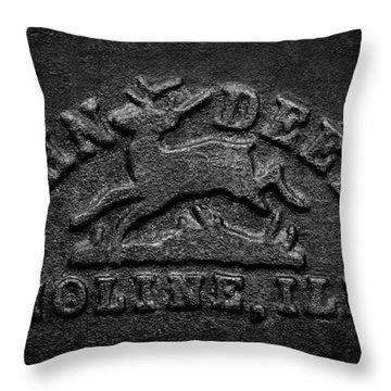 Early John Deere Emblem Throw Pillow