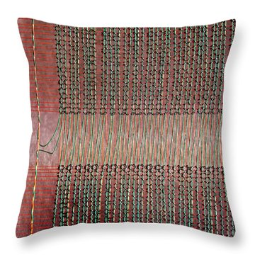 Throw Pillow featuring the photograph Early Mainframe Art by Rona Black