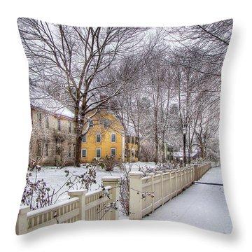 Early Massachusetts Throw Pillow