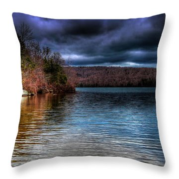Throw Pillow featuring the photograph Early May On Limekiln Lake by David Patterson