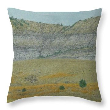 Early May On The Western Edge Throw Pillow